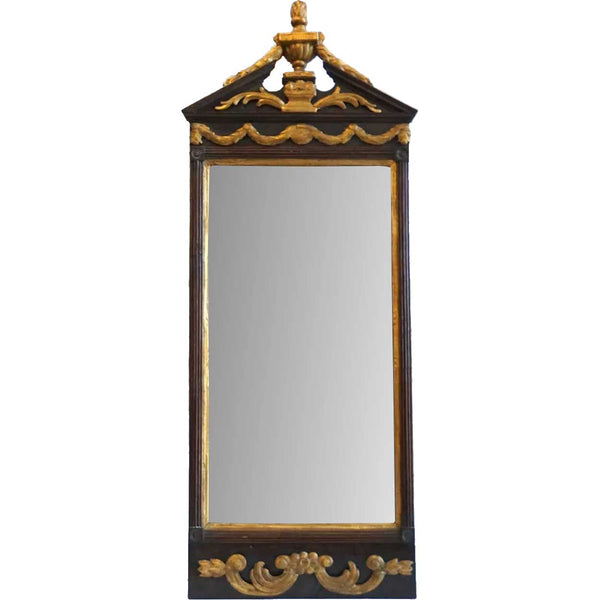 Danish Neoclassical Parcel Gilt Pier Mirror