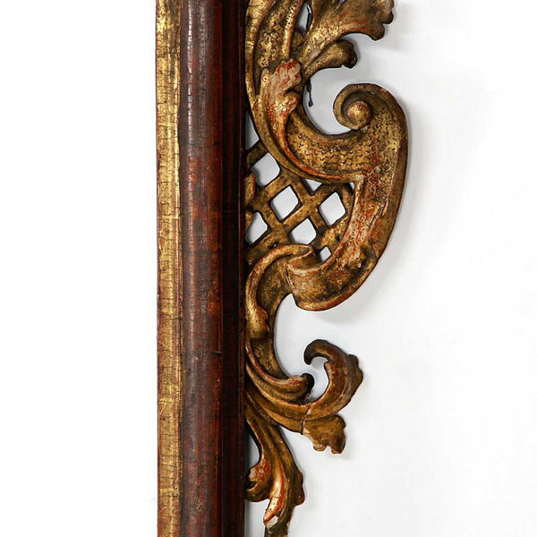 Swedish/German Baroque Gilt Pine Mirror