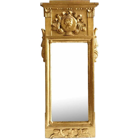 Small Danish Early Empire Gilt Pine Mirror