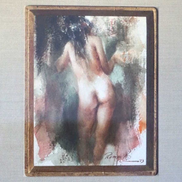 RAMON KELLEY Watercolor Painting, Standing Female Nude