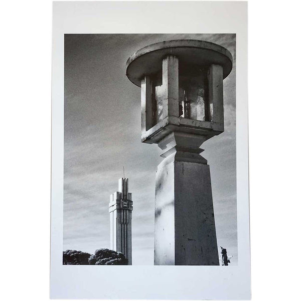 MAXIMILIANO BRINA Black and White Photograph, Art Deco Architecture, Salamone x 2