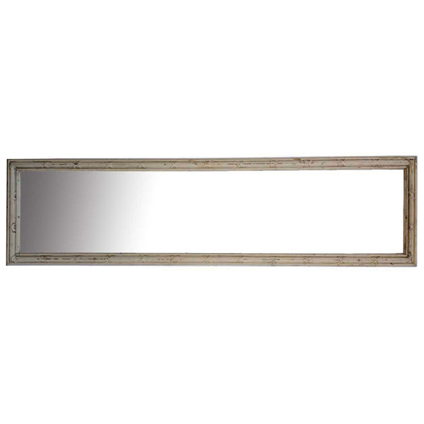 Large Louis XVI Style Belcaro Mansion Painted Pine Rectangular Mirror