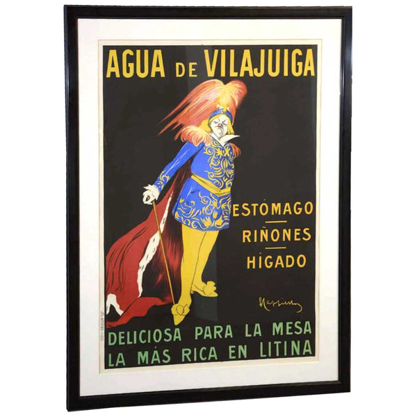 LEONETTO CAPPIELLO Color Lithograph Aqua De Vilajuiga Advertising Poster