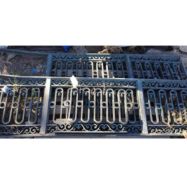 Pair of Rare American Neoclassical Bronze Bank Building Railings