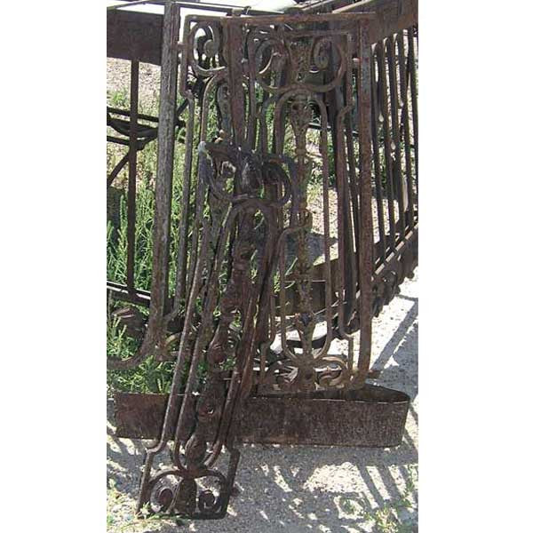 Set of Three French Wrought Iron Balcony Railings