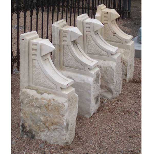 Set of 4 American Sandstone Architectural Brackets