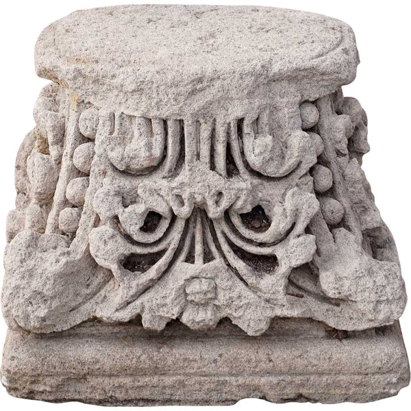 Limestone Pillar/Column Capital
