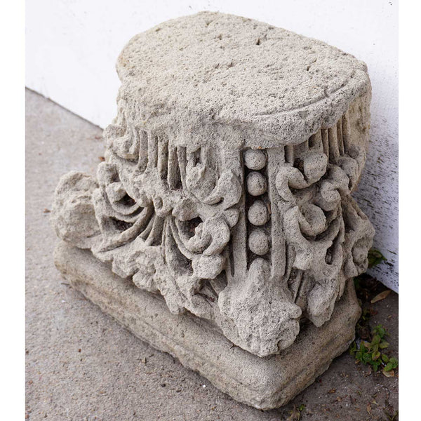 English Limestone Architectural Pillar Top / Column Capital
