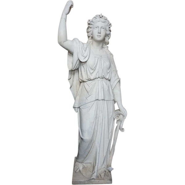 American Neoclassical Marble Statue of Liberty