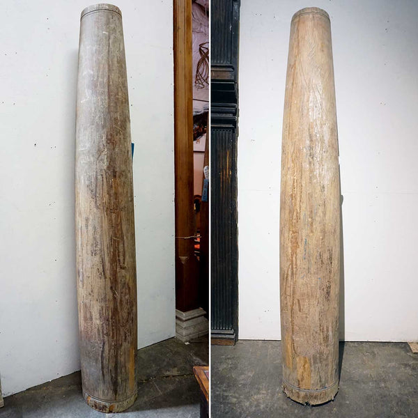 Pair of Very Large Indian Solid Satinwood Columns