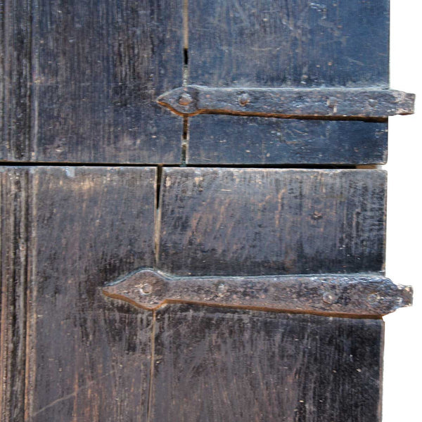 Rare English Baroque Elm Two-Part Single Farmhouse Door