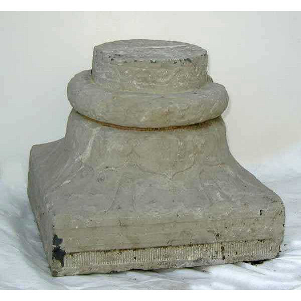 Pair of Chinese Stone Capitals