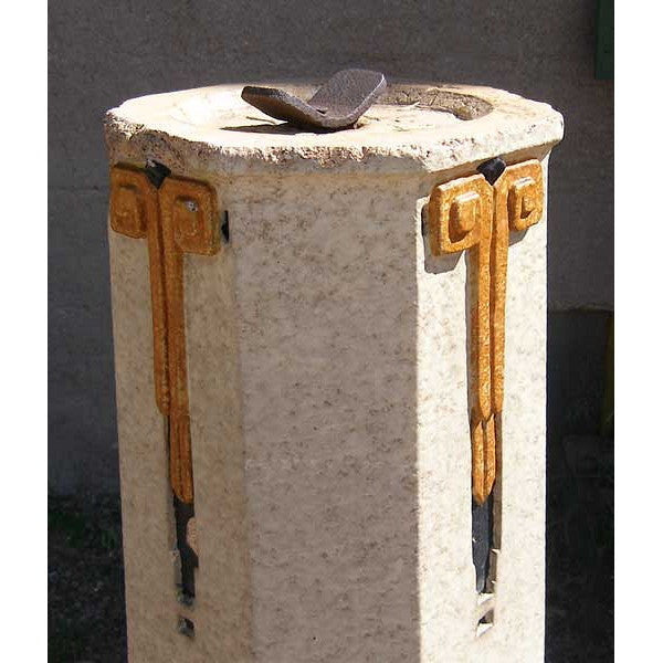 American Art Deco Pottery Sundial Pedestal Base without Top