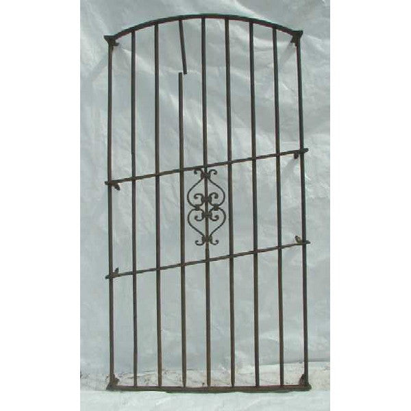Large Spanish Wrought Iron Arched Window Grille