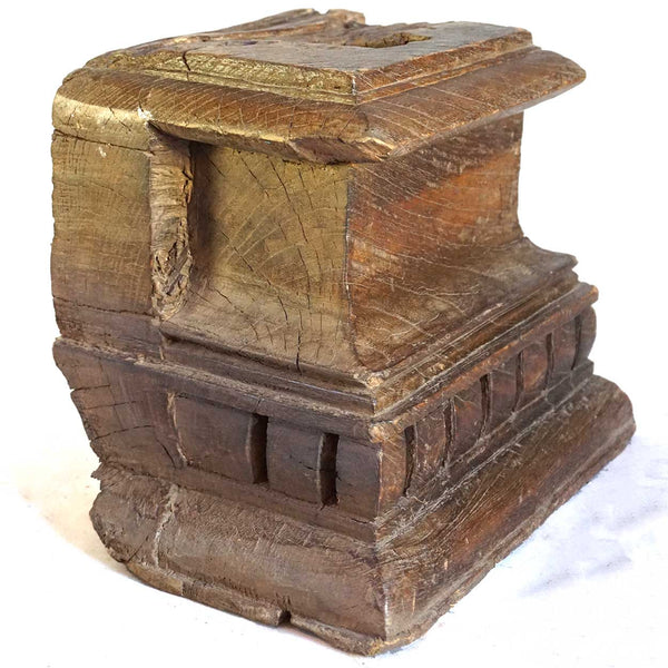 Teak Architectural Pilaster Capital