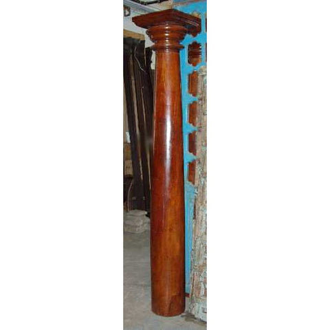 Anglo Indian Mahogany and Teak Column
