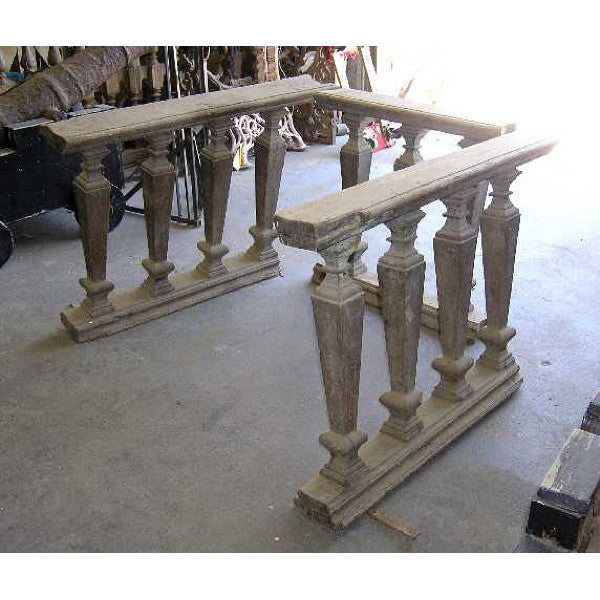 Three-Piece Portuguese Baroque Period Chestnut Altar Railing
