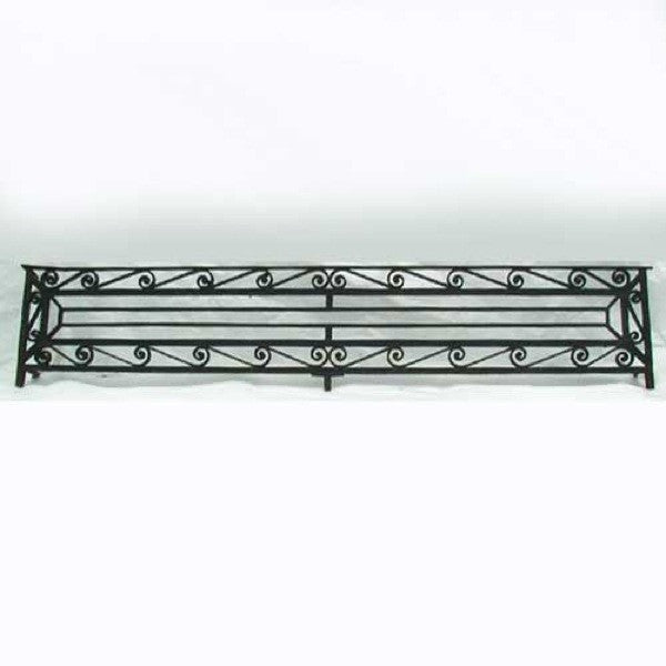 Long French Wrought Iron Panel Grille