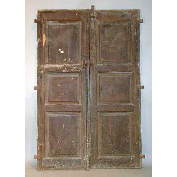Spanish Oak and Chestnut Paneled Double Door