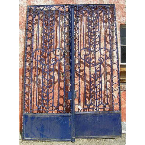 Argentine Painted Bronze and Iron Double Door Gate and Transom