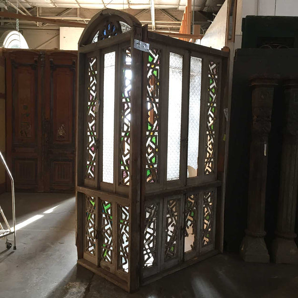 Moorish Pine Fretwork Arched Window