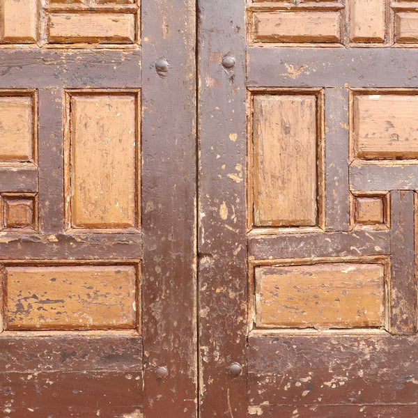 Moorish Painted Pine Double Door