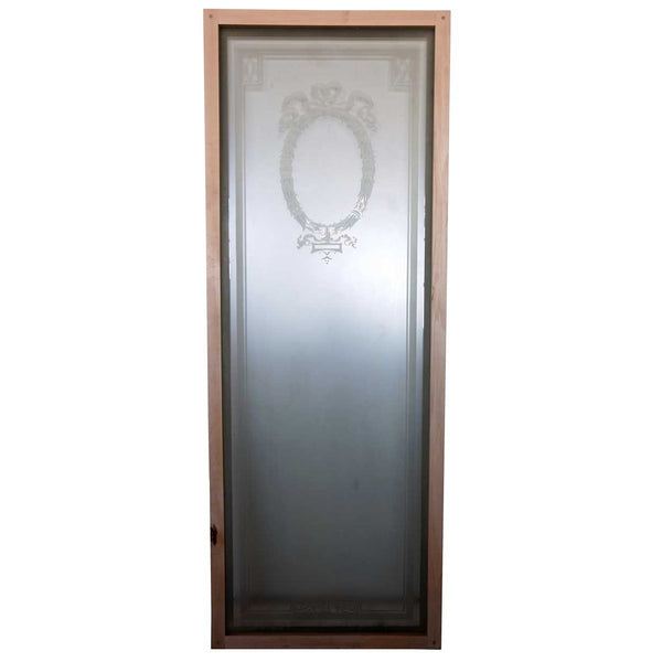 Set of Five English Neoclassical Etched Glass Windows