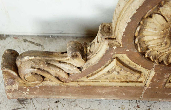 Pair of English Victorian Painted Teak Porch Corbel Brackets