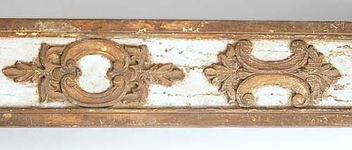 Indo-Portuguese Parcel Gilt and Gesso Altar Panel Fragment