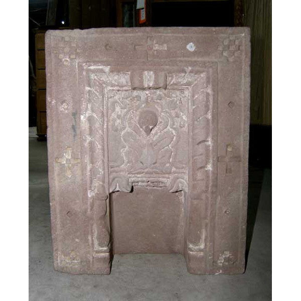 Pair of Indian Sandstone Shrine Architectural Niches
