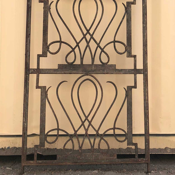 French Art Deco Edgar Brandt Style Wrought Iron (Fer Forge) Panel
