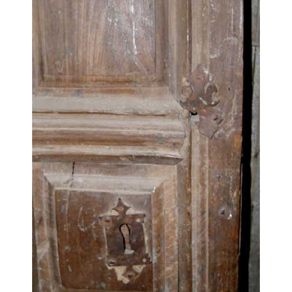 Early Spanish Walnut Paneled Single Door