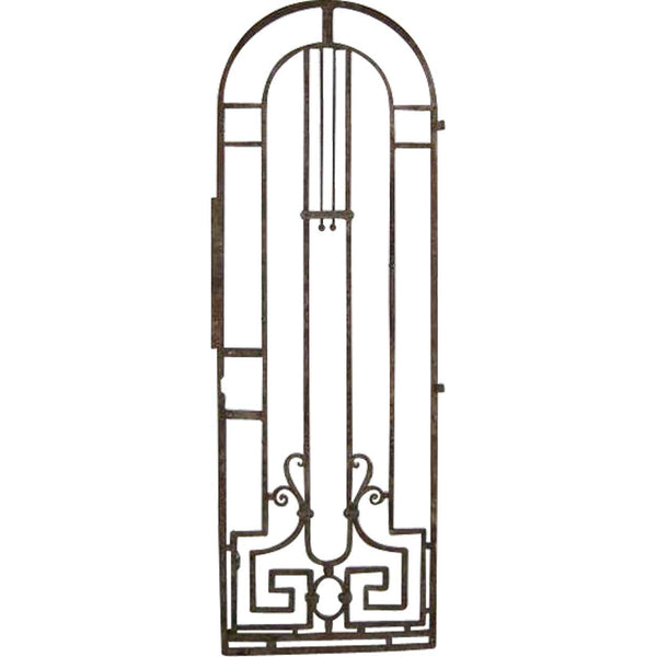STOLEN ➳ French Colonial Art Nouveau Wrought Iron Arched Gate