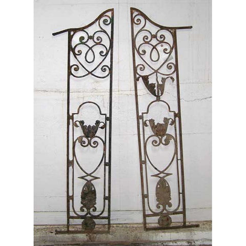 Pair of French Colonial Louis XV Style Wrought Iron Grilles
