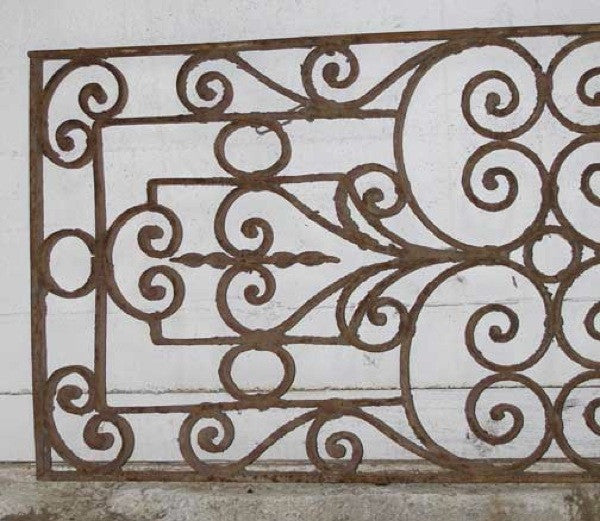 French Colonial Wrought Iron Window Grille