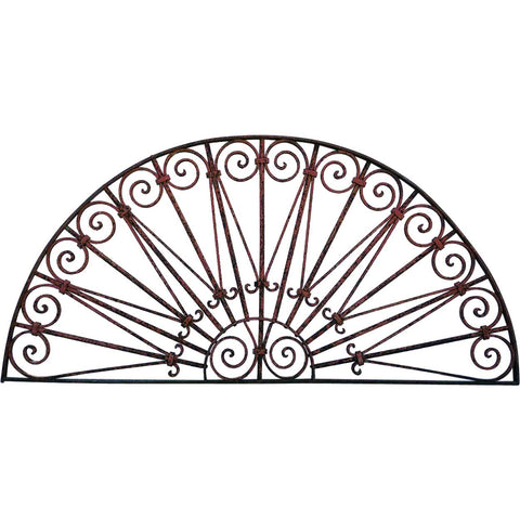 French/Spanish Wrought Iron Arched Transom