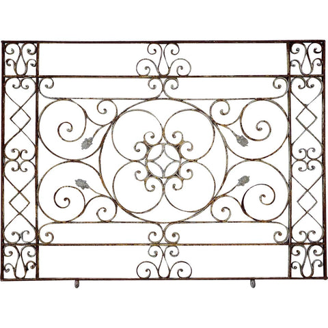 French Wrought Iron and Zinc Balcony Railing