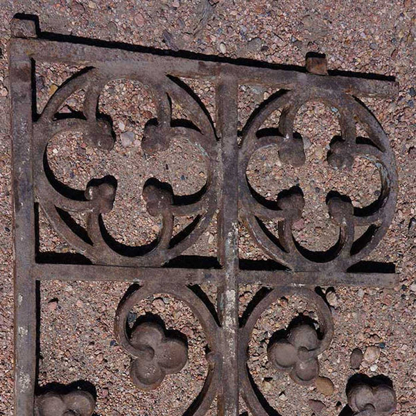 English Gothic Revival Cast Iron Railing (sold per piece)