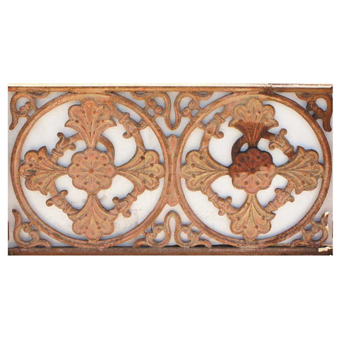 English Victorian Cast Iron Balcony Railing Panel [6 available]