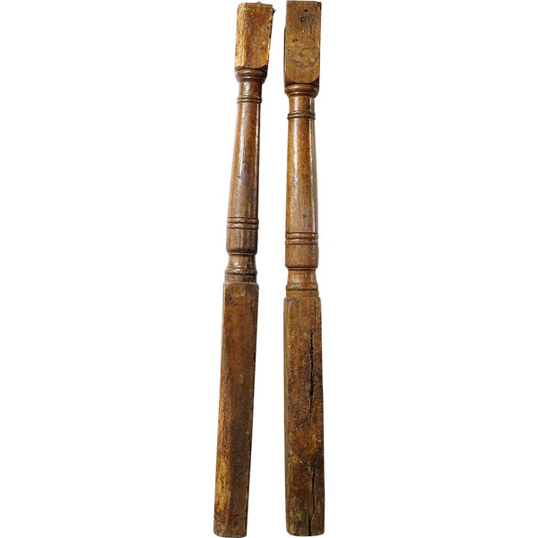 Pair of Early Danish Oak Columns