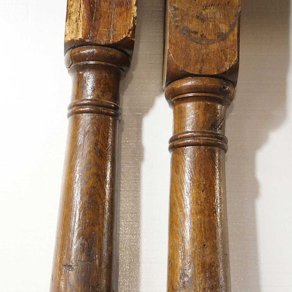 Pair of Danish 17th Century Oak Farmhouse Columns