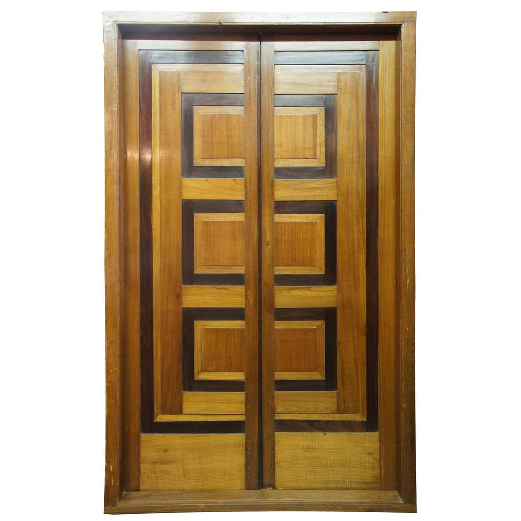 Modernist Teak and Rosewood Paneled Double Door with Frame from Chandigarh  sc 1 st  Eron Johnson Antiques & Modernist Teak and Rosewood Paneled Double Door with Frame from Chandi