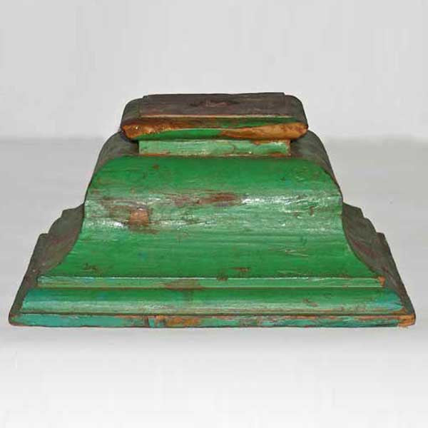 Anglo Indian Painted Teak Architectural Pillar Base