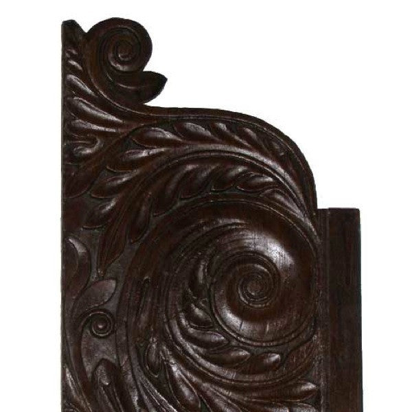 Pair of Indian Rosewood Architectural Panels