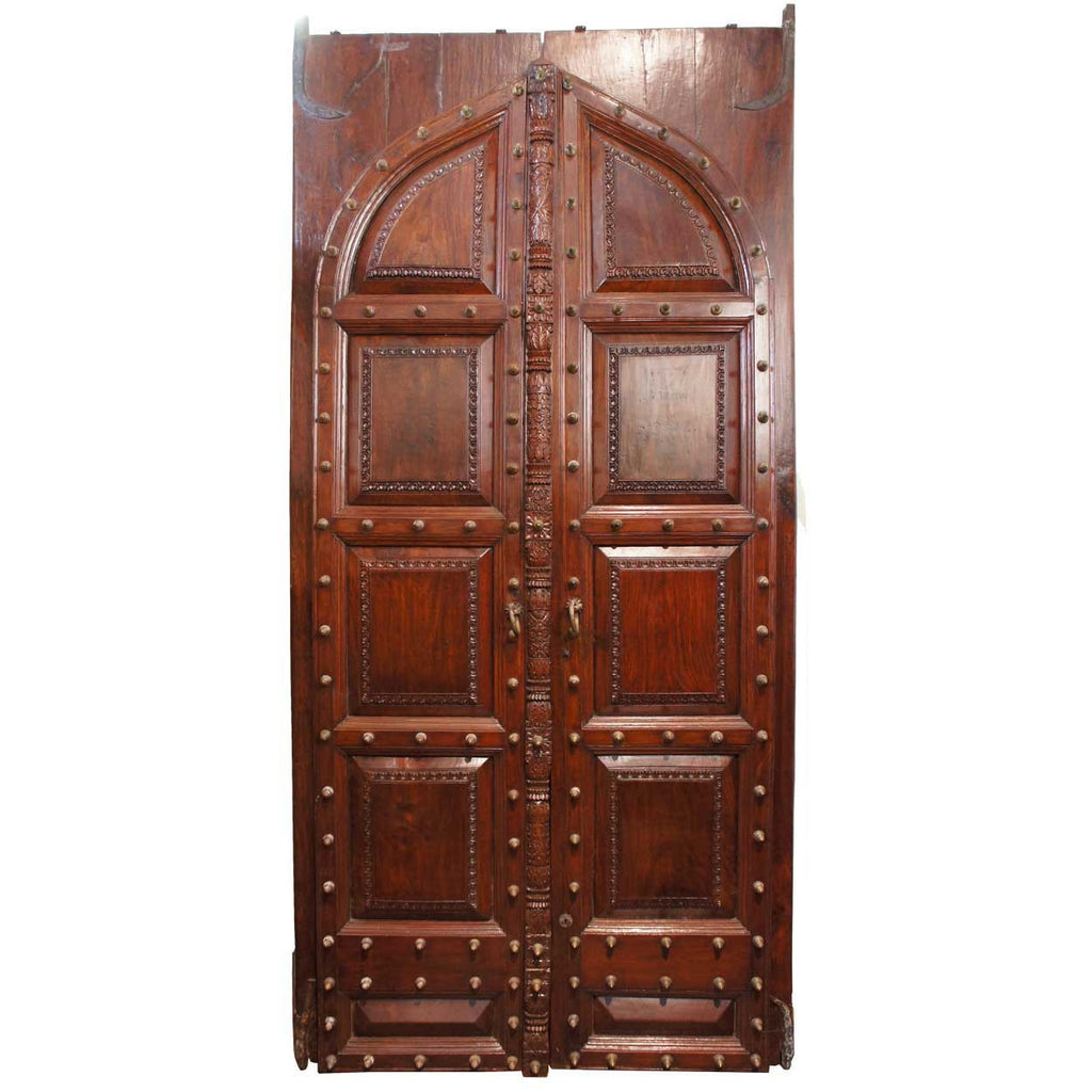 sc 1 st  Eron Johnson Antiques & Large Indo-Portuguese Brass Nailhead Solid Rosewood Double Door