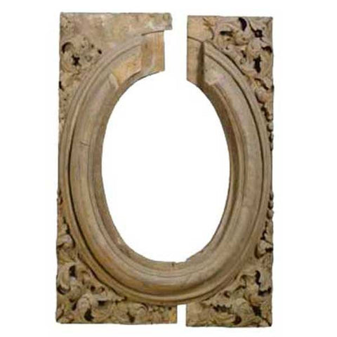 English William and Mary Pine Architectural Niche Frame
