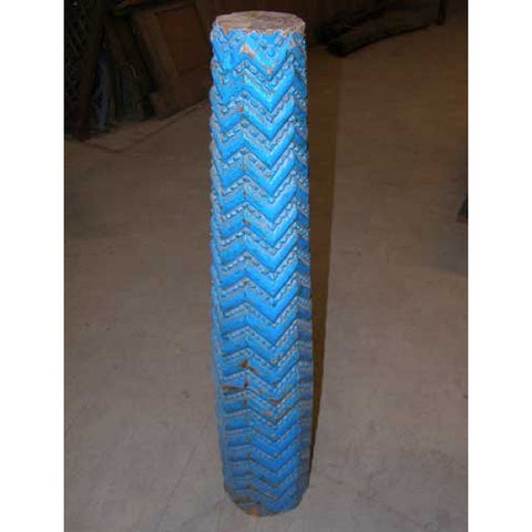 Small Indo-Portuguese Blue Painted Teak Pillar