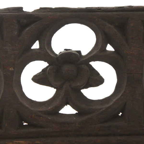 English Gothic Oak Architectural Tracery Panel