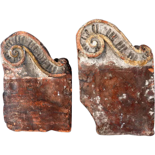 Pair of Early English Terracotta Architectural Brackets