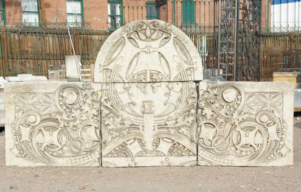 American GEORGE ELMSLIE 4-Part Terra Cotta Architectural Cartouche